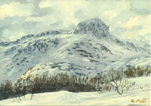 Bitihorn winter, by Arne Paus