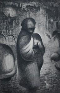 Forsoningen av Arne Paus, litografi