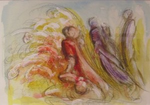 Smertedans tegning av Arne Paus, nr 3