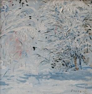Snow, 25cm x 25cm