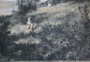 Victoria litografi, 63x90 av Arne Paus