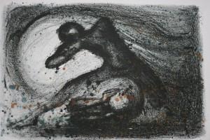 Dans, litografi av Arne Paus