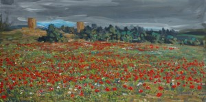 Poppies in Mallorca (32x62)