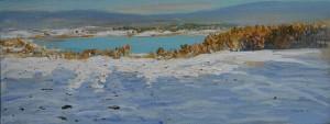 Decembersun in Maridalen (20x50)