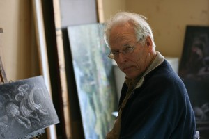 Arne Paus in his studio