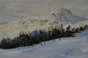 Section of Bitihorn series painting nr 1